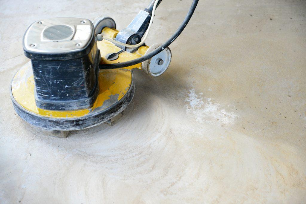 Diamond polishing concrete floors, polishing machine