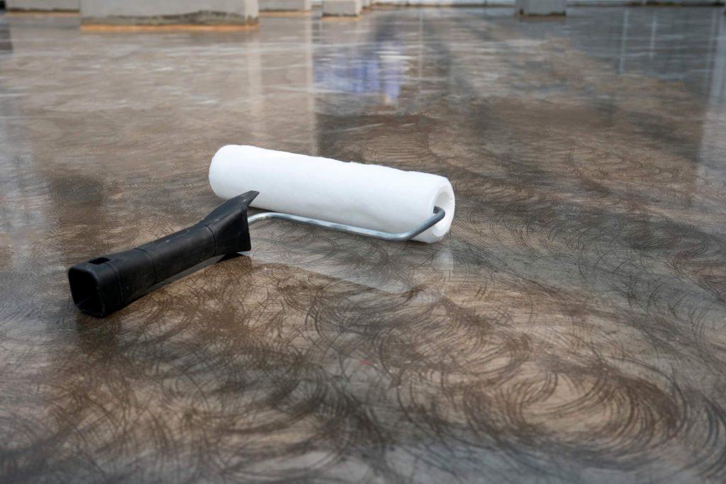 Epoxy coating on a concrete floor
